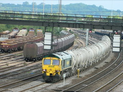 66524 6M92 West Thurrock - Earles at Toton 08/06/2013 (37686) Tags: 66 class 60 freightliner ews toton railfreight dbschenker