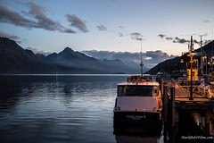 Departures.jpg (Burning Torch Productions) Tags: sunset newzealand lake boat southisland queenstown