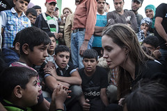UNHCR Special Envoy Angelina Jolie meets with newly arrived Syrian refugees in Jordan (UNHCR) Tags: children middleeast jordan angelinajolie photooftheday specialenvoy syrianrefugees jordansyriaborder