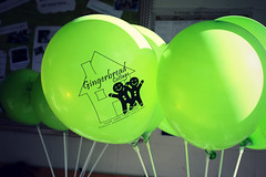 #173/365 - Balloons (Jaime Carter) Tags: newzealand green balloon hamilton waikato intrepid 365 173 day173 openday thirdedition project365 gingerbreadcottage yearthree 2013 jaimewalsh june2013 jaimecarter homebasedchildcare 3652013 picmonkey 22june2013