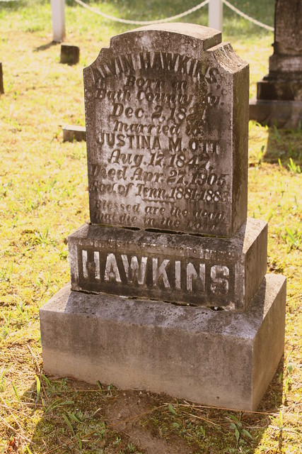 Burial Site of Governor Alvin Hawkins