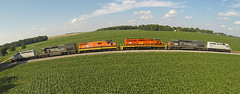 ISRR rainbow train (Train Chaser) Tags: aerialphotography gopro isrr indianasouthern djiphantom