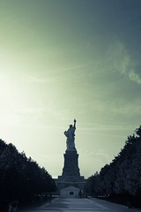 Liberty (Michael Patrick Perry) Tags: nyc newyorkcity history monochrome statue america sunrise liberty artistic creative landmark historical