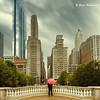 Red Umbrella (ElenaK@Chicago) Tags: urban chicago clouds square rainyday redumbrella nikond700 nikon28300mm blinkagain