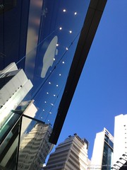 At the Apple Store in Causeway Bay - blue sky today! (antwerpenR) Tags: china travel hk cn t hongkong asia southeastasia c timessquare southeast aswan causewaybay photostream 5photosaday tunglowan zzunsorted