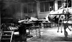 Nightshift in No1 shed at RAF Wattisham 1971 (David Bruce Wright) Tags: england english 1971 fighter aircraft airplanes hangar engineering t5 service 111 lightning raf aeroplanes coldwar aerospace bac interceptor redtop supersonic mach2 englishelectriclightning britishaerospace groundcrew englishelectric royalairforce 111sqn baesystems wattisham 111squadron groundequipment firestreak aden30 xs421