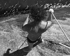 Nice boy at Leme Beach (alobos Life) Tags: boy sea brazil bw man cute guy beach beautiful rio brasil de outdoors amigo mar agua friend janeiro body candid sony garoto enjoy brazilian alegria chico speedo having sunga leme divertido nex5r
