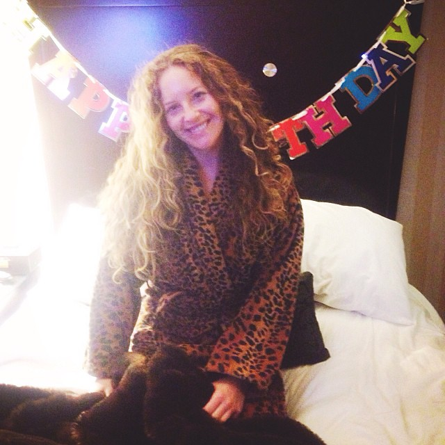 Birthday at a boutique hotel in Boston with @lainemi I'm digging the cheetah robes!