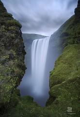 Skoga (S.D.G Photographie) Tags: green nature water waterfall iceland eau waterfalls cascade chute islande savage icelandic skogafoss legende skoga