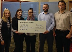 Cheque presentation from NFUS Stirling Branch
