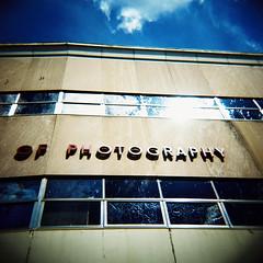New England School of Photography (El Rancho Photo) Tags: boston lomo crossprocessed signage kodake100vs holga120n