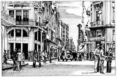 Porto Alegre Rua da Praia esquina Ladeira Largo dos Medeiros 1931
