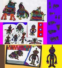 Assorted Creatures, Set 6 (Moleman9000) Tags: cute animal animals monster mouth pig colorful gun drawing small alien aliens fantasy figure beast knight monsters creatures creature weapons humanoid scifi moleman9000 navaverse navaverse