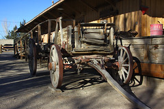 Wheel Shadows (lefeber) Tags: california wood architecture wagon town shadows wheels platform roadtrip trainstation worn depot ruraldecay laws owensvalley