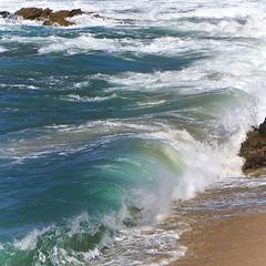 ~hear the ocean roar~ (uteart) Tags: wild beach mexico sand rocks turquoise shoreline shore waters puertovallarta rugged southshore hightide thewave oceanspray laola conchaschinas oceanmist utehagen uteart copyrightutehagen2014allrightsreserved