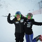 BC Ski Team girls Charley Field and Emma King in Europe on special Alpine Canada speed project, January 2014