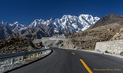 Road to Pasu Glacier Gilgit Pakistan (saleem shahid) Tags: