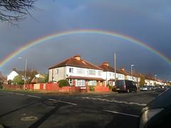 Somewhere under the rainbow..... (stavioni) Tags: new weather rainbow surrey malden kt3