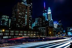 Light trails Brooklyn Bridge (PotterPics) Tags: newyork nikon manhattan brooklynbridge lighttrails d5200