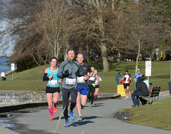 First Half Feb 16 2014 094134 (gherringer) Tags: canada vancouver race outdoors athletics downtown bc exercise britishcolumbia competition running seawall runners englishbay stanleypark colourful westend fit active bibs 211km 131mi vanfirsthalf