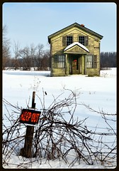 Dream House (timmerschester) Tags: old winter house snow abandoned sign vintage michigan country farmland