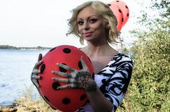 Eden's Photo Shoot (Karsun Designs Photography) Tags: vintage balloons whimsy vintagecar surrealism beetle retro eden pinup 1969vwbeetle francille edenfrancille