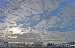 Clouds getting thinner (andrey.senov) Tags: blue sky clouds heaven fuji russia fujifilm x10   kostroma   10faves  fujifilmx10