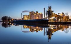 Nedmag Industries by night (2), Veendam (koos.dewit) Tags: canon nightshot thenetherlands bluehour groningen 6d veendam 1740mml nachtopname blauweuurtje nedmag koosdewit