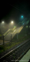 10 minute study Wentworth Falls Misty Station-15 (Gary Hayes) Tags: mist station train lights australia bluemountains beams wentworthfalls