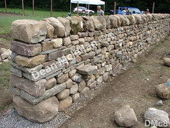 WM Dean Mclellan 8, Andrew L, Chuck Eblacker,  Workshop wall, freestanding wall, cheekend, dry laid stone construction, copyright 2014