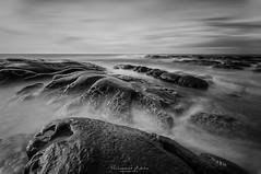 Sea Monster (adzhaedy) Tags: sea white black rock slowshutter sabah simpang mengayau