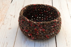 Brown crocheted bowl --- Rustic basket in brown and hints of rose (osnat.ganor) Tags: brown basket recycled handmade crochet bowl etsy recycle homedecor ecofriendly upcycled crochetbasket ecoetsy etsyisrael osnatganor odpaam odpaametsy