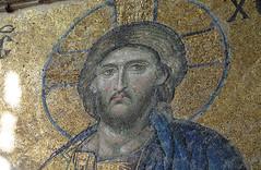 Christ (bust), Deësis mosaic, Hagia Sophia