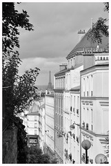 VIEW FROM PARIS BELLEVILLE (Spaceopera) Tags: voyage travel urban panorama paris france monochrome landscape nikon view belleville eiffel urbain d90 nikond90