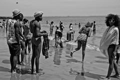 Coney Island 2014 (slightheadache) Tags: nyc newyorkcity party summer people blackandwhite bw newyork beach brooklyn fun coneyisland spring sand coney 2014