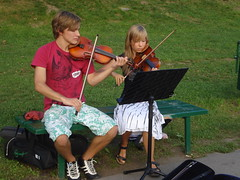 young fiddlers (bitternedy) Tags: music musicians youth poland violin artists krakw cracow parc fiddlers