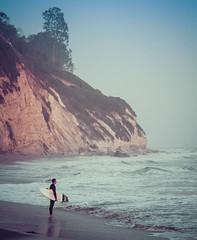 last waves of the day, at Hendry's Beach (jrodmanjr) Tags: ocean california sunset santabarbara person evening coast highway surf surfer bigsur roadtrip surfing pch highway1 socal shore pacificcoasthighway hendrysbeach bestoflumoid