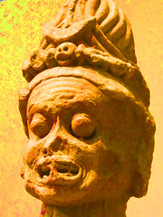 Chamunda, the Horrific Destroyer of Evil (bronxbob) Tags: nyc newyorkcity sculpture art museums metropolitanmuseumofart indianart artmuseums mma chamunda