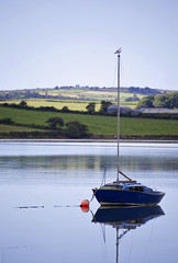 MINE....MINE (patrickcross0) Tags: ireland west water canon eos countryside boat still seagull cork floating calm 6d westcork mineminemine tamron70300vc
