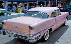 1957 Oldsmobile 88 2-Door Hardtop (Pat Durkin OC) Tags: 1957olds 88 2door hardtop pink whitewalltires oldsmobile rocket88 v8 dualexhausts