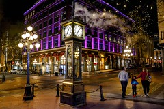 World's first steam powered clock (Christie : Colour & Light Collection) Tags: gastown steamclock vancouver bc canada gastownsteamclock westminsterchimes historic clock time cityofvancouver steam sidewalk waterstreet