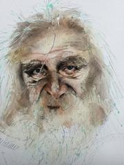 Le vieux (Demars Philippe) Tags: demars aquarelle portrait vieux berger fontana