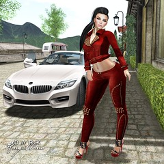 Ricielli Red Biker (Dark Angellina) Tags: fashion mesh sl secondlife footwear whatever hush puncture redgrave slink loq ryca ricielli purpleposes