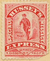 Hussey's Express Special Message Stamp (Alan Mays) Tags: old newyorkcity red ny newyork men vintage ads paper advertising cards typography stamps antique 19thcentury victorian ephemera businesscards type names wallstreet collectors pinestreet advertisements fonts printed printers typefaces hussey nineteenthcentury 1880s messengers dealers postagestamps discolored handford importers tradecards seebeck easson proprietors specialmessage stampcollectors stampdealers jthandford localstamps husseysexpress reasson nfseebeck nicholasfseebeck
