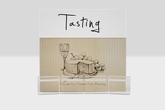 Tasting Kit - Acrylic Cheese Profile Card Holders (woloszynek_adam) Tags: red party food white beer cheese graphicdesign wine gift packaging branding