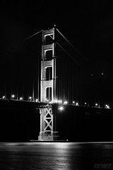 Golden Gate (kaiyul) Tags: ocean sf bridge bw reflection golden gate san francisco