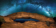 """As above, so below"" - Milky Way over Mesa Arch Canyonlands (Stephen Oachs (ApertureAcademy.com)) Tags: bravo milkyway mesaarch cayonlands"