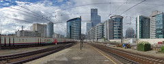 Brussels skyline from the North Station (The^Bob) Tags: brussels skyline belgium north railwaystation