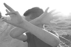 Brother (lisannew95) Tags: light boy shadow summer vacation sun sunlight white holiday man black holland men guy netherlands monochrome dutch dark licht hands cross arms brother fingers nederland feeling colorless zwart wit nederlands zon donker crossed broer broertje