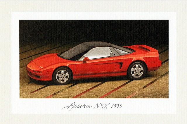 1993 acura notecard nsx